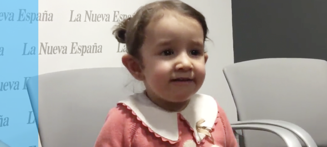 Valeria se recupera con éxito tras un trasplante de células madre de cordón umbilical